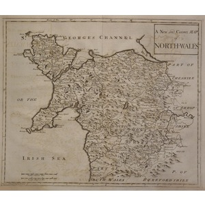 A new and correct map of north-wales - morden, 1772