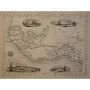Western Africa - Original Antique Map, 1851. Published by John Tallis. With Original Hand-Colour....