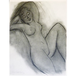 Matisse , Henri - Reclining Nude. Original heliograph published in 1958 by Teriade for Verve Maga...