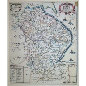 A mapp of the county of lincolne - blome