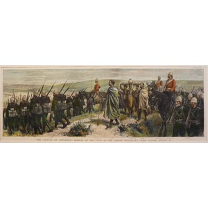 The capture of cetewayo - arrival of the king at sir garnet wolseleys camp, ulundi, august 31