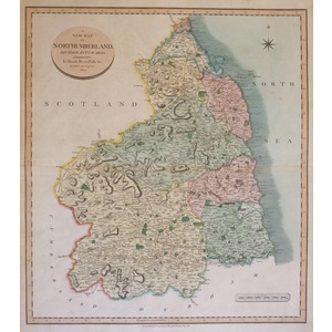 Cary, J. - A New Map of Northumberland Divided into Wards, Exhibiting Its Roads, Rivers, Parks &c...