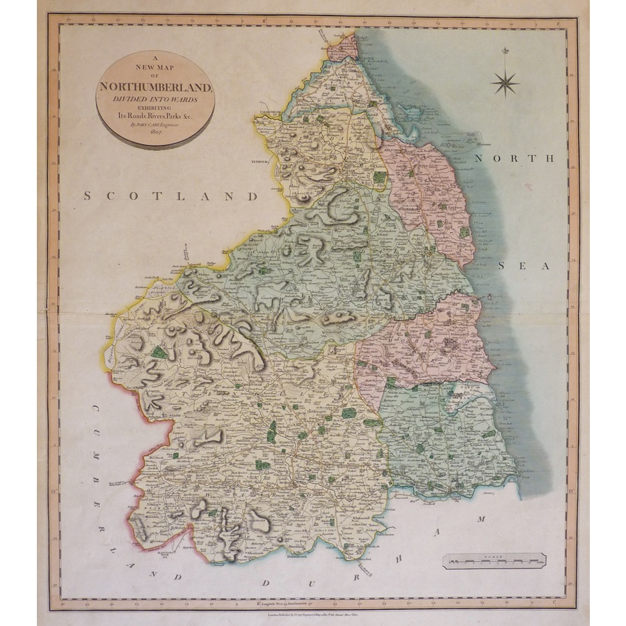 Cary, J. - A New Map of North. | Storey's