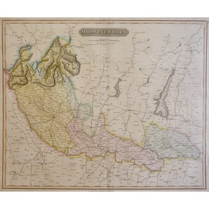 Milanese States - Original antique map by Thomson, 1814