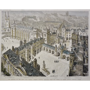 The Removal of the Blue Coat School: Christ's Hospital Sketched from the Tower of Christ Church, ...