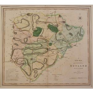 A new map of the county of rutland