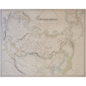 Russian Empire - Original antique map by J. Bartholomew, F.R.G.S.  Engraved by G H Swanston, Edin...