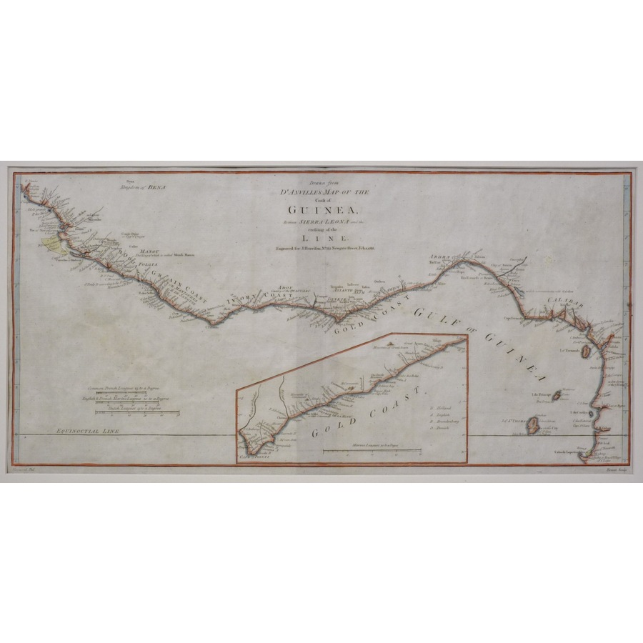 Map of the coast of guinea | Storey's