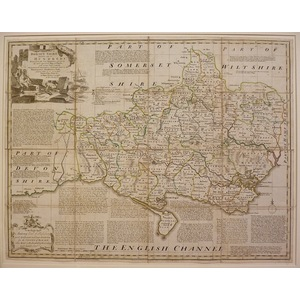 An accurate map of dorsetshire (on linen)- bowen