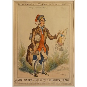 Leo sacks, one of the charity crabs - parish characters plate no.8