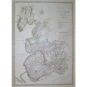 A map of lancashire - cary 1805