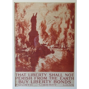 That liberty shall not perish from the earth. Buy liberty bonds, fourth liberty loan. 1918.