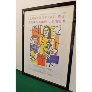 Study for Two Lovers - Original exhibition poster advertising a Centenaire de Fernand Leger Exhib...