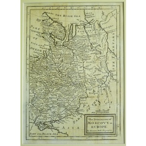 The dominions of muscovy in europe - h. Moll, 1711