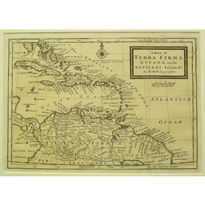 A map of terra firma guiana and the antilles islands