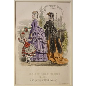 The newest french fashions - plate 10, october 1868