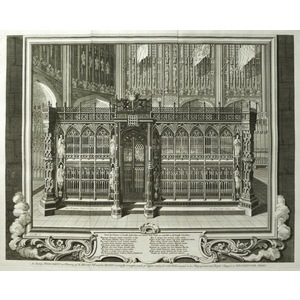 Henry vii and his queen in his royal chapel
