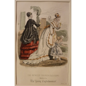 The newest french fashions - plate 8, august 1868