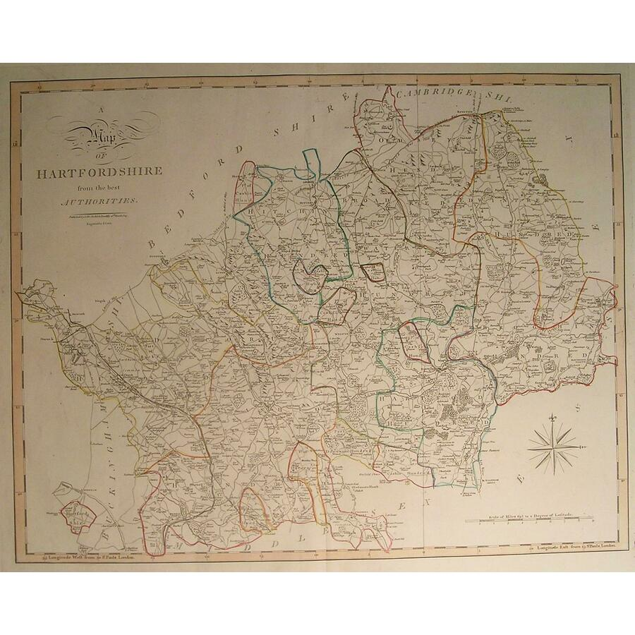 A map of hartfordshire | Storey's