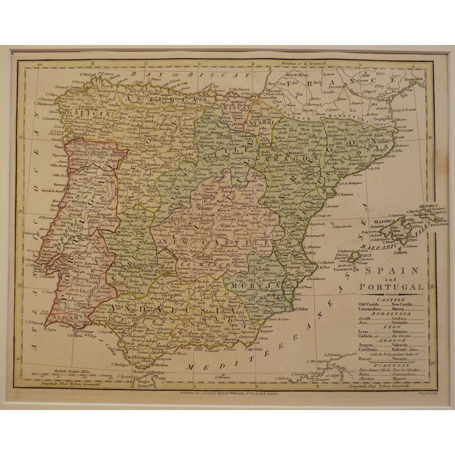 Spain and portugal - 1808 wil. | Storey's