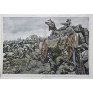 The capture of de wets convoy at reitz, june 6: the attack upon the boer wagons by colonel de lis...