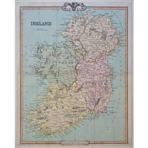 Ireland - Original antique map by G.F. Cruchley, 1852