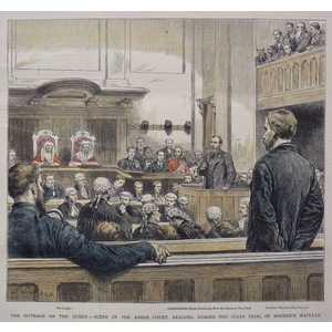 The Outrage on the Queen - Scene in the Assize Court, Reading, During the State Trial of Roderick...