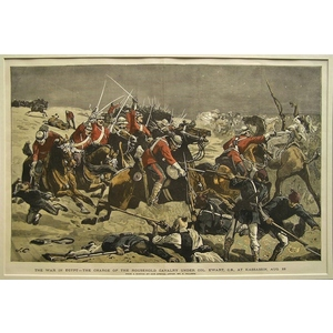 The war in egypt - the charge of the household cavalry under col. Ewart, c.B., At kassassin, aug. 28