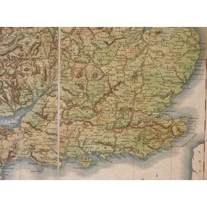England and Wales - Inland Communication  - - Original antique map by Sydney Hall, 1822