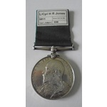 Volunteer Force Long Service and Good Conduct Medal, Ed VII, named to 5811 Lance Corporal H.R. Jo...