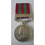 India General Service Medal 1895, VR, in silver, one clasp Relief of Chitral 1895 named to Captai...