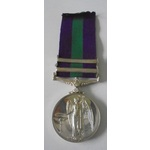 General Service Medal 1918-62, Eliz II, two clasps, Near East and Cyprus named to 23250978 Sapper...