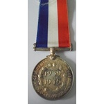 South Africa Medal for War Service 1939-45 in silver. Nearly extremely fine