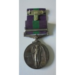 General Service Medal 1918-62, Eliz II, clasp Cyprus named to 23444257 Private H. Prince, Devon a...
