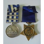 Private G. Caines, 1st Battalion, Gordon Highlanders. Egypt Medal, dated 1882 reverse, four clasp...