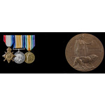 Great War Gallipoli Casualty and died of illness Malta 1914-1915 trio and Memorial Plaque group a...