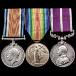 A very rare unit Great War Western Front and Army Meritorious Service Medal group awarded to Acti...