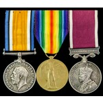 Great War and Regular Army long service group awarded to Guardsman later Corporal L.J.S. Pilgrim,...