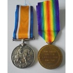Gunner H. Lovell, Royal Artillery. British War Medal and Victory Medal both named to 115273 Gunne...