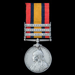 Queens South Africa Medal, three clasps, Cape Colony, Paardeberg, Driefontein named to 3157 Priva...