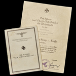 Germany - Third Reich: The Extremely Rare Russian Front Leningrad Posthumous Award Certificate fo...