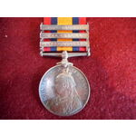 Queens South Africa Medal, three clasps, Cape Colony, Transvaal, South Africa 1901 named to 2842 ...