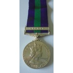 General Service Medal 1918-62, Eliz II, clasp Cyprus named to 22822835 Corporal A. John, Royal Be...