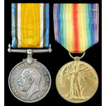An Officer's Great War Casualty Pair to 2nd Lieutenant L.T. Smith, 7th Battalion, King's Own York...