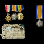A Great War 1914-1915 trio and brother's British War Medal, the first to Private G.W. Spearpoint,...