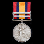 A Queen's South Africa Medal 1899-1902, two clasps, Cape Colony, South Africa 1901, awarded to Tr...