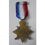 1914-15 Star named to 14840 Private F. Rowlesland, Devonshire Regiment. Served with 9th Battalion...