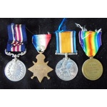 A Great War Military Medal and Trio to  to Acting Warrant Officer 2nd Class A.J. Norris, 9th Batt...