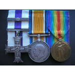 A Rare W.W.1. Observer Ace Military Cross and successful Pilot Escapers' Military Cross bar for s...