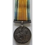 British War Medal named Z-2227 PTE J.A. LOWTHER 1ST RIF. BRIG. Born Clapham, Lived Eccles, Died o...